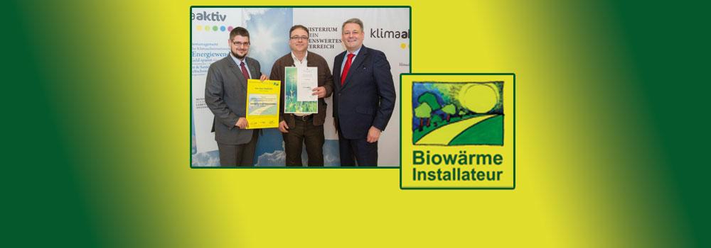 Erster Biowärme-Installateur in Oberbayern